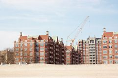 Coney island , New York ocean view condos Royalty Free Stock Photos