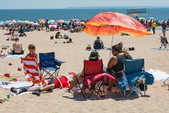 Father`s Day Weekend on Coney Island royalty free stock image