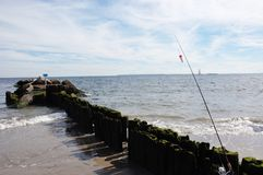 Coney island new york fishing season Royalty Free Stock Photos