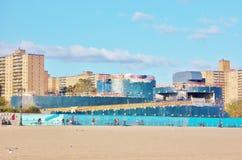 Coney Island Ny Aquarium Construction In Progress Royalty Free Stock Photo