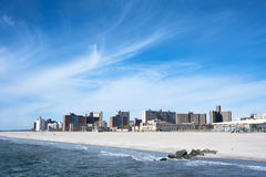 Coney Island Panorama New York City Stock Photo