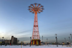 Coney Island Parachute Jump Royalty Free Stock Photos