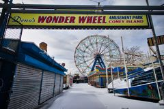 Coney Island park rozrywki obraz royalty free