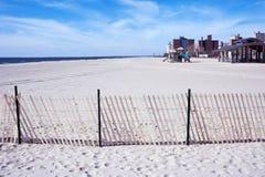 Coney Island plaża, Brooklyn, Miasto Nowy Jork obraz stock