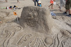 The 2014 Coney Island Sand Sculpting Contest 11 Royalty Free Stock Image