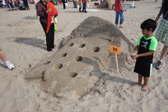 The 2014 Coney Island Sand Sculpting Contest 20 Royalty Free Stock Photos