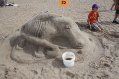 The 2014 Coney Island Sand Sculpting Contest 21 Royalty Free Stock Images