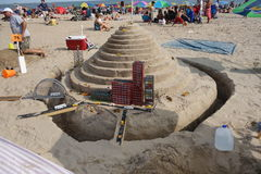 The 2014 Coney Island Sand Sculpting Contest 35 Royalty Free Stock Images