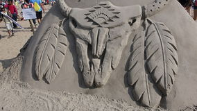 The 2014 Coney Island Sand Sculpting Contest 38 royalty free stock photography
