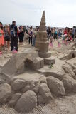 The 2014 Coney Island Sand Sculpting Contest 49 Royalty Free Stock Photography