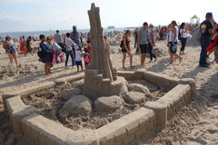 The 2014 Coney Island Sand Sculpting Contest 66 Royalty Free Stock Photos