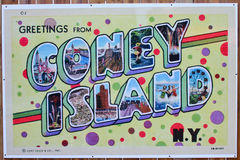 Coney Island sign at Boardwalk at Hersheypark, PA Stock Image