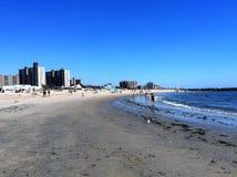 Coney Island-Strand Stock Afbeelding