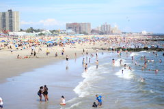 Coney Island-Strand Royalty-vrije Stock Foto