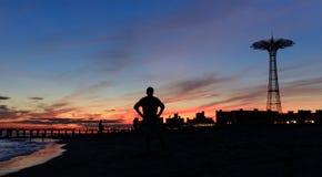 Coney Island strand i New York City Royaltyfria Foton