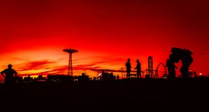 Coney Island strand i New York City Arkivfoton