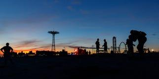 Coney Island strand i New York City Royaltyfri Fotografi
