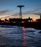 Coney Island strand i New York City Fotografering för Bildbyråer