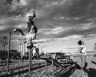 Coney Island strand i New York City royaltyfria bilder