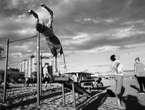 Coney Island strand i New York City arkivbild