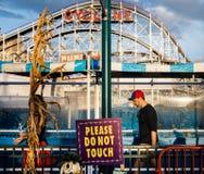 Coney Island strand i NYC Royaltyfria Bilder