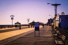 Coney Island strandpromenad Royaltyfria Foton