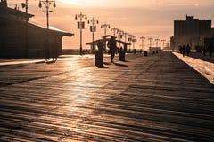 Coney Island strandpromenad Royaltyfri Bild