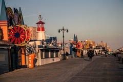 Coney Island strandpromenad Arkivfoton