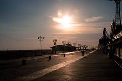 Coney Island strandpromenad Arkivfoto