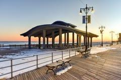Coney Island strandpromenad - Brooklyn, New York Royaltyfria Bilder