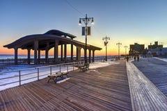 Coney Island strandpromenad - Brooklyn, New York Arkivfoton