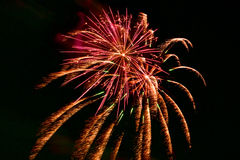Coney Island Summer Fireworks - Brooklyn, New York Stock Photo