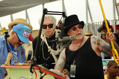 Coney Island USA Artistic Director Zigun presents a key to Queen Mermaid Deborah Harry at the 35th annual Mermaid Parade Stock Images