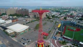 Coney Island video aéreo Brooklyn NY filme
