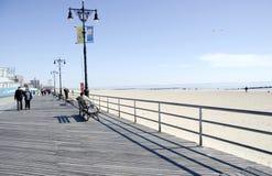 Coney Island Winter stock image