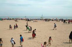 coney plażowa wyspa nowy York obraz royalty free