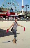 coney wyspę nowego Jorku midway. zdjęcia royalty free