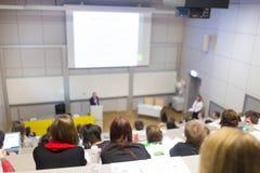 Conférence à l'université Photos stock
