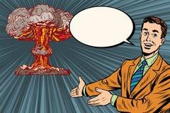 Conférence d'explosion nucléaire sur la sécurité de rayonnement illustration stock