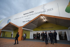 Conférence de climat de l'ONU COP21 Photographie stock