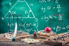 Conférence de la trigonométrie à l'école Photos libres de droits