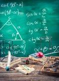 Conférence de la trigonométrie à l'école Photo stock