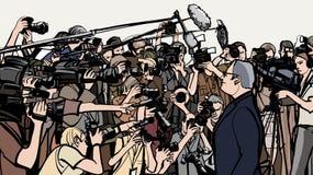 Conférence de presse illustration stock