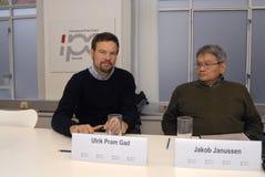 CONFÉRENCE DE PRESSE COMMUNE GREENLANDS ELECETIONS Photographie stock libre de droits