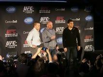 Conférence de presse d'UFC 158 Images stock