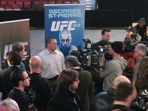 Conférence de presse d'UFC 158 Photo stock