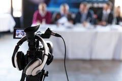 Conférence de presse Relations publiques - RP photo stock