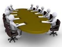 Conférence entre les hommes d'affaires Image libre de droits