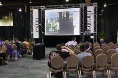 Conférence et expo du monde de Photoshop images stock
