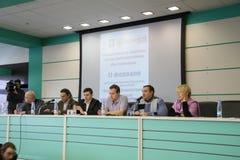 Conférence sur l'ensemble d'observateurs photographie stock libre de droits
